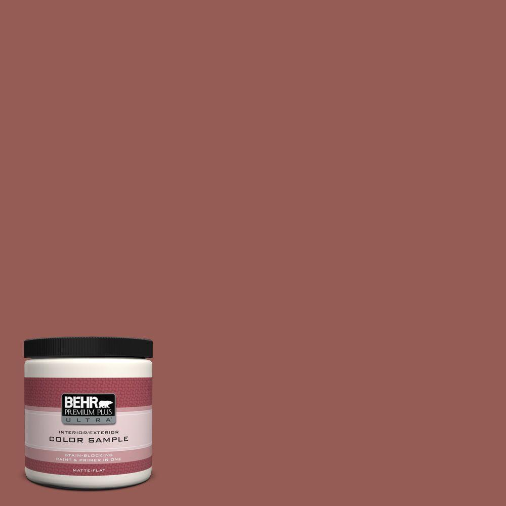 BEHR Premium Plus Ultra 8 oz. #ECC-34-3 Terra Cotta Sun Interior/Exterior Paint Sample