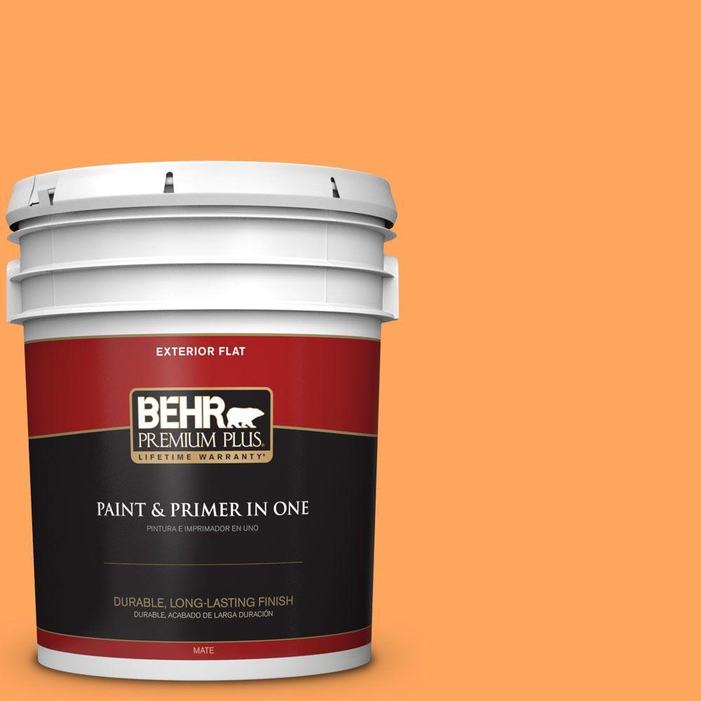 BEHR Premium Plus 5-gal. #270B-5 Melon Flat Exterior Paint