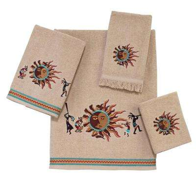 Southwest Sun 4-Piece Bath Towel Set in Linen