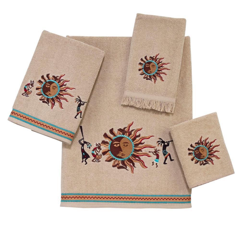 Southwest Sun 4-Piece Bath Towel Set in Linen