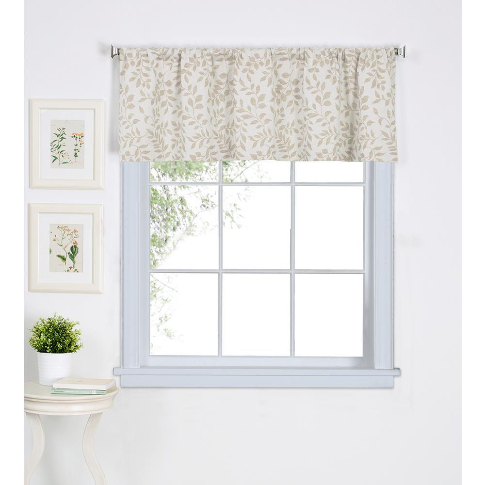 225 & Elrene Serene Kitchen Tier Window Valance