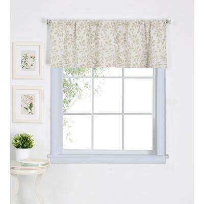 Serene 60 in. W x 15 in. L Cotton Single Window Curtain Valance in Linen