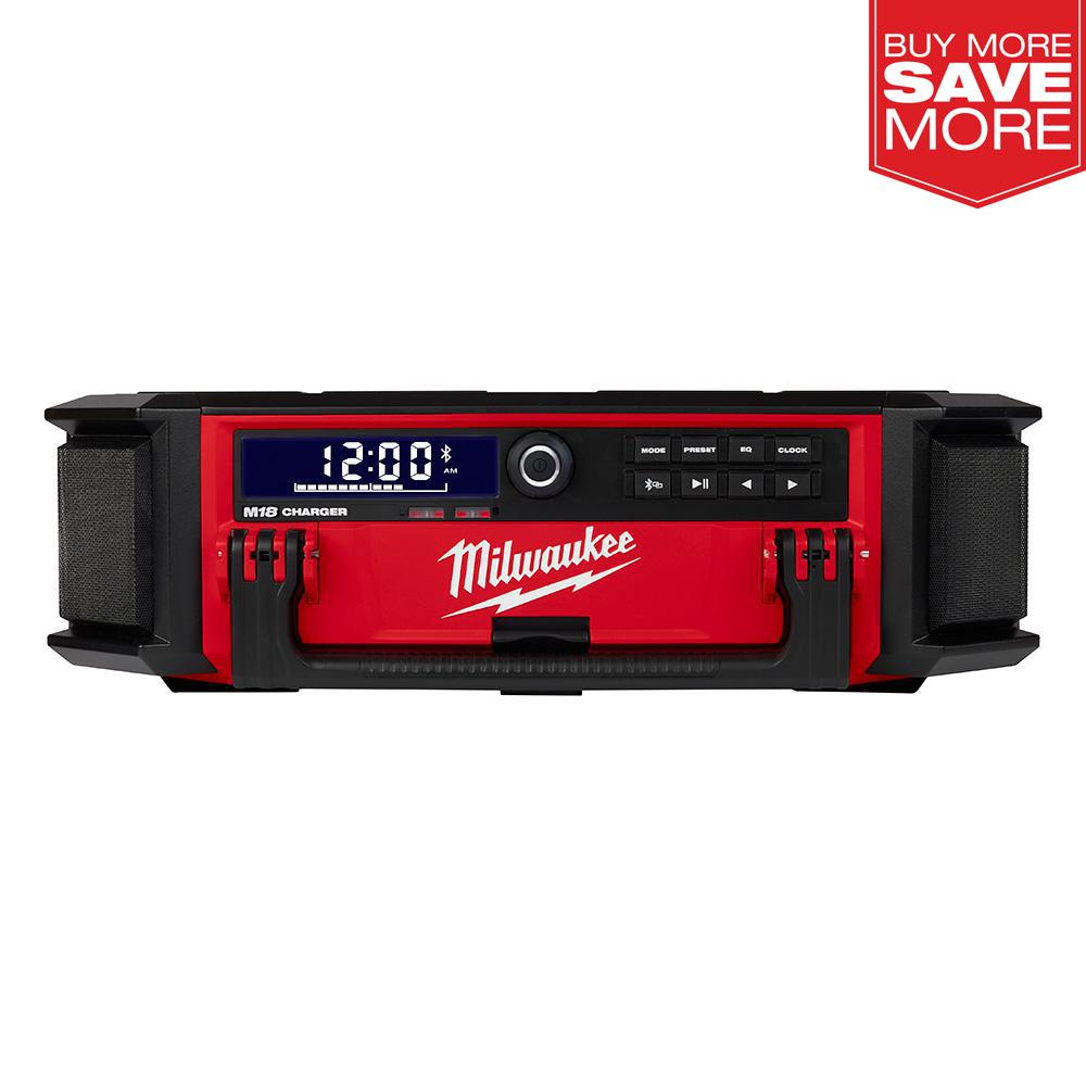 Milwaukee M18 Lithium-Ion Cordless PACKOUT Radio/Speaker with Built-In Charger