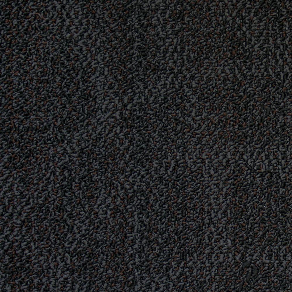null Prospect Park Black Rock Loop 19.7 in. x 19.7 in. Carpet Tile (20 Tiles/Case)