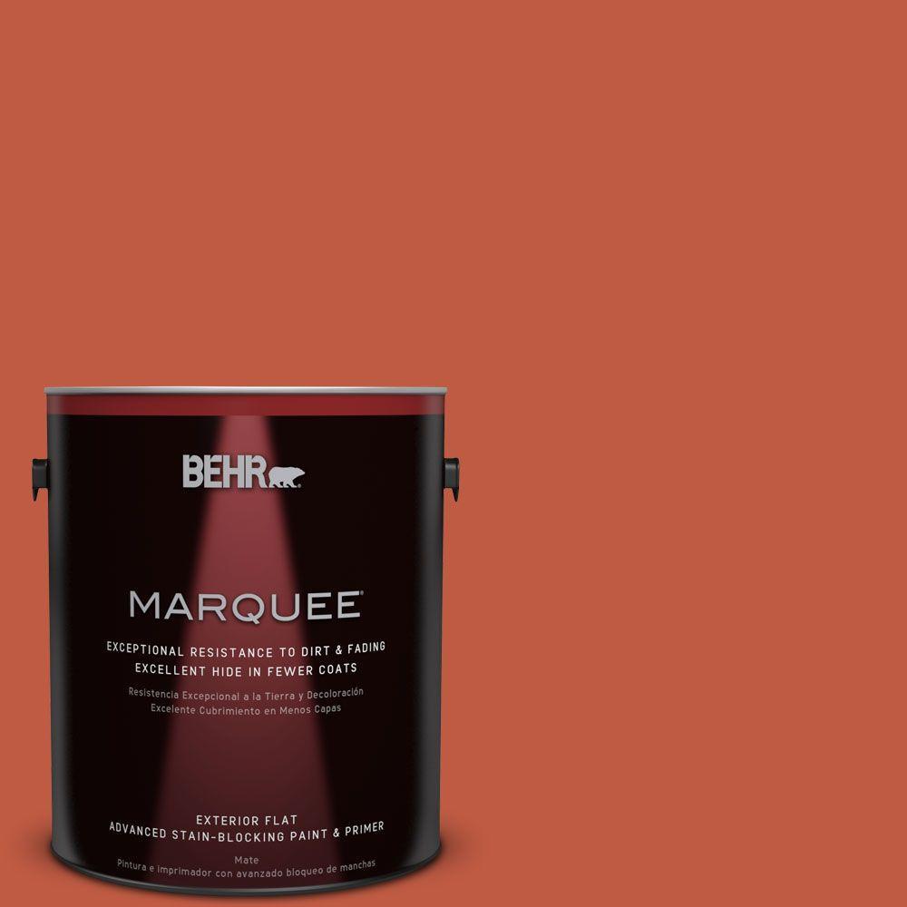 BEHR MARQUEE 1-gal. #M180-7 Deep Fire Flat Exterior Paint