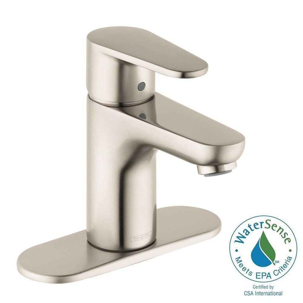 Hansgrohe Talis E2 Single Hole 1-Handle Bathroom Faucet in Brushed ...