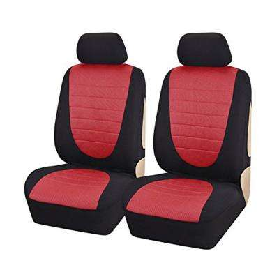 47 in. x 23 in. x 1 in. Front Seat Covers Fit Most Car SUV Truck Jeep in Red (8-Piece)