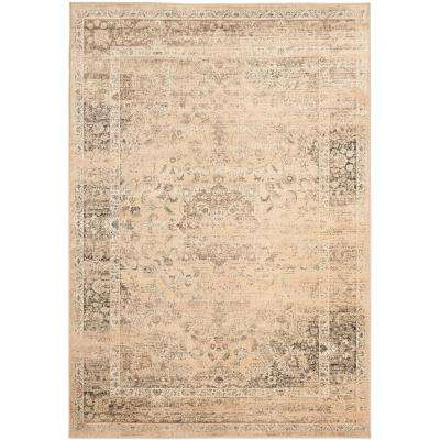 Vintage Warm Beige 7 ft. x 9 ft. Area Rug