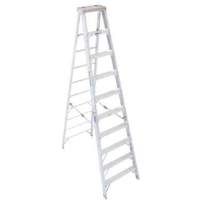 10 ft. Aluminum Step Ladder with 375 lb. Load Capacity Type IAA Duty Rating
