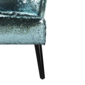 Magnificent Novogratz Mazzy Teal And Pink Sequin Upholstered Accent Short Links Chair Design For Home Short Linksinfo