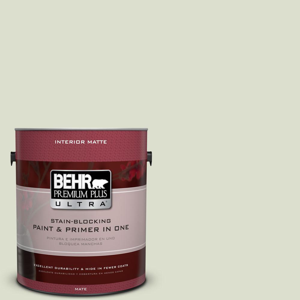 BEHR Premium Plus Ultra 1 gal. #PPU10-15 Desert Springs Flat/Matte Interior Paint