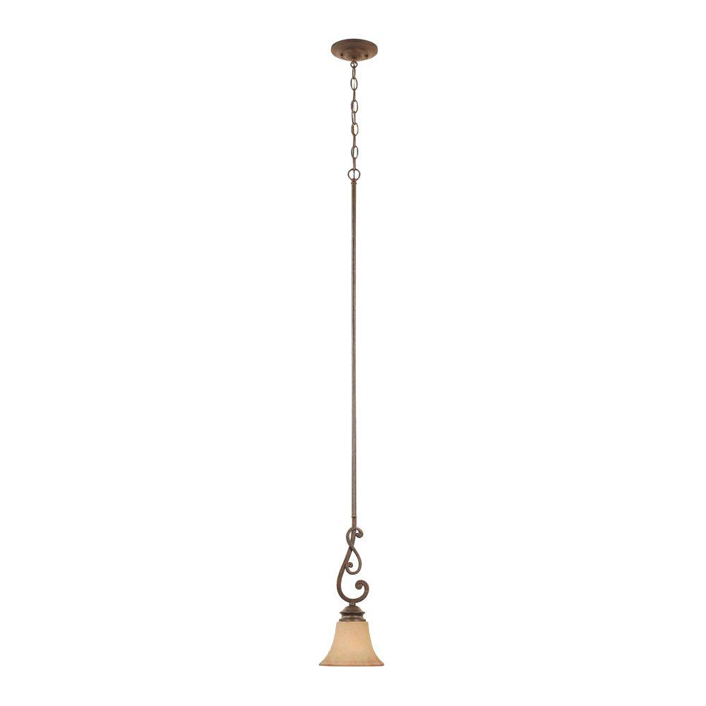 Vienna 1-Light Forged Sienna Hanging Mini Pendant