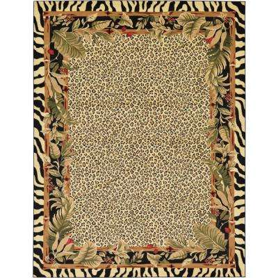 Animal Print Cream Area Rugs Rugs The Home Depot