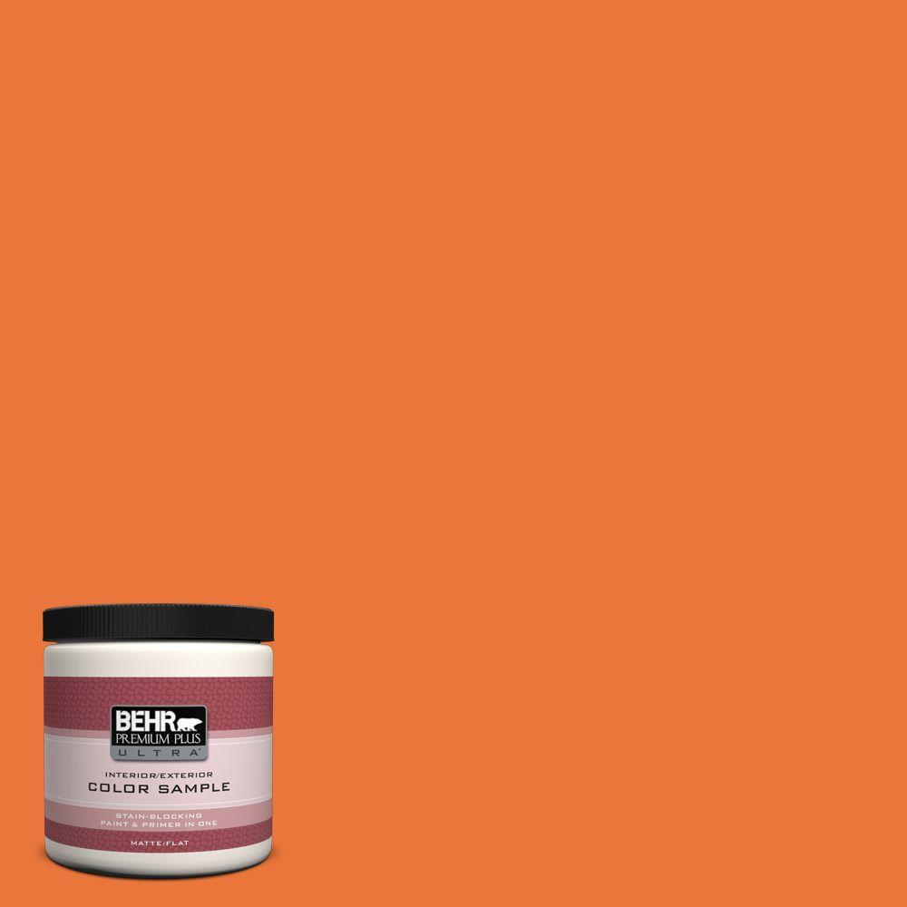 BEHR Premium Plus Ultra 8 oz. Home Decorators Collection Tart Orange Interior/Exterior Paint Sample