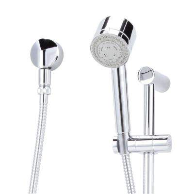 Serin Complete 3-Function Wall Bar Shower Kit in Polished Chrome