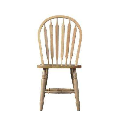 Unfinished Wood Arrow Back Windsor Dining Chair