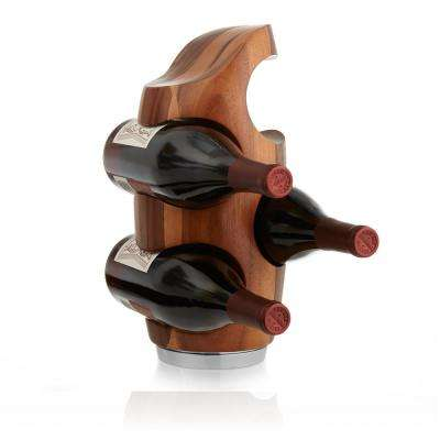 Vie 4-Bottle Wood Vertical Wine Rack