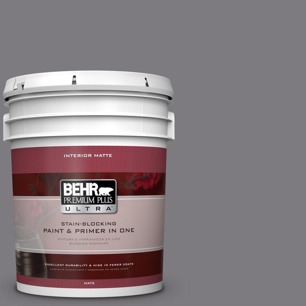 5 gal. #BXC-58 Stormy Gray Matte Interior Paint