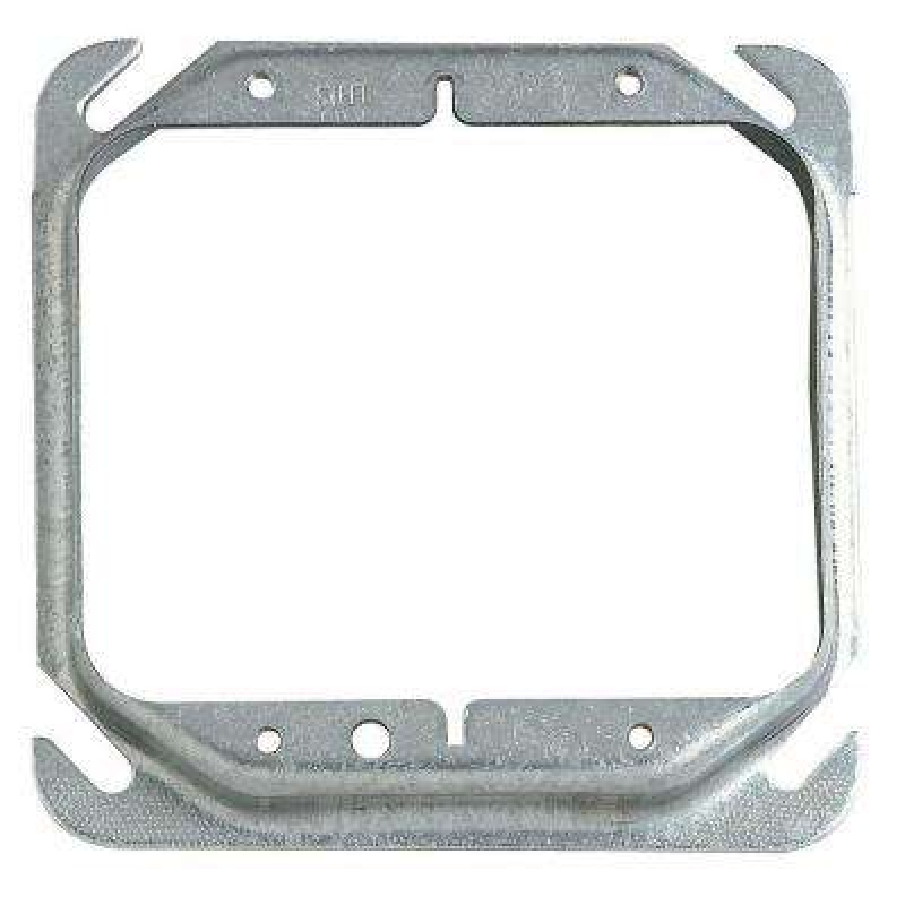4 in. Metallic Square Box Mud Ring (Case of 25)