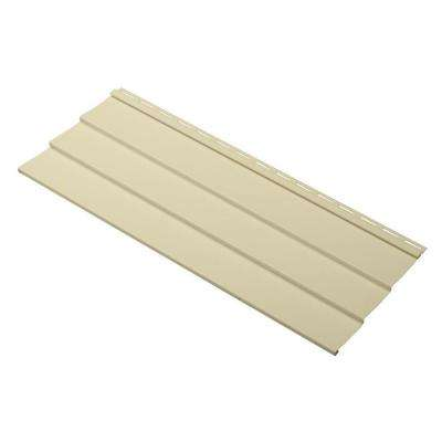 Progressions Double 5 in. x 24 in. Vinyl Siding Sample in Sunrise Yellow