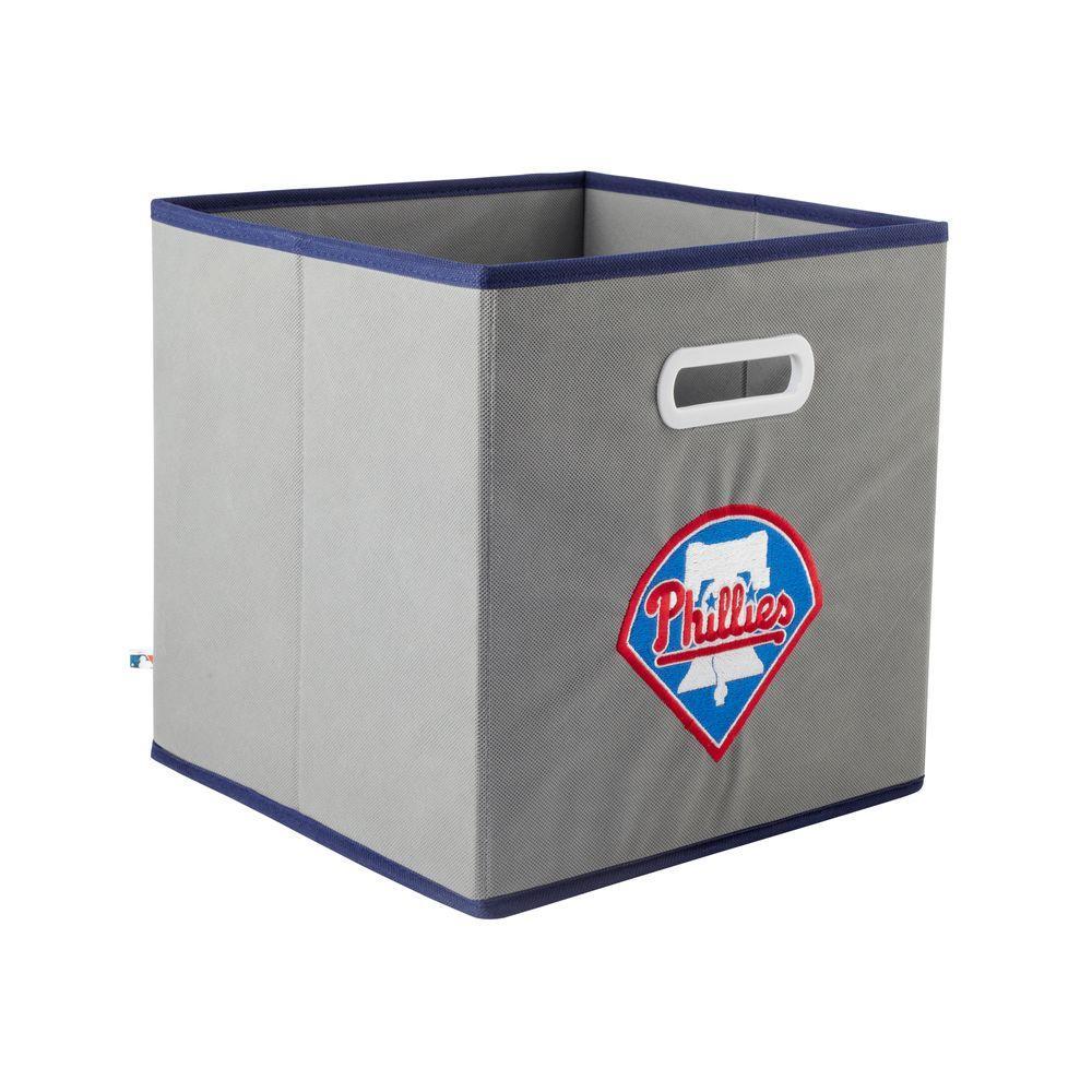 MyOwnersBox MLB STOREITS Philadelphia Phillies 10-1/2 in. x 10-1/2 in. x 11 in. Grey Fabric Storage Drawer