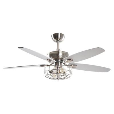 Kyla 52 in. Indoor Chrome Downrod Ceiling Fan with Light and Remote Control