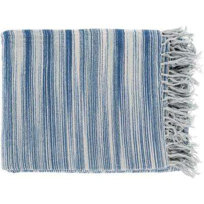 Simonov  Navy Cotton Throw