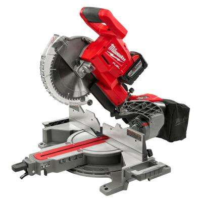M18 FUEL 18-Volt Lithium-Ion Brushless Cordless 10 in. Dual Bevel Sliding Compound Miter Saw Kit W/(1) 9.0Ah Battery