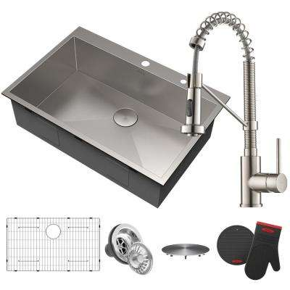 33 In Drop Kitchen Sinks