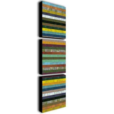 Wooden Abstract X by Michelle Calkins 3-Panel Wall Art Set