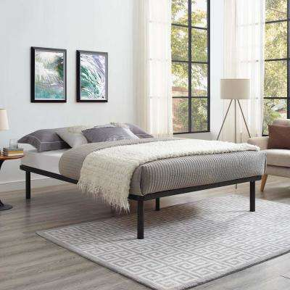 Rowan Brown King Bed Frame