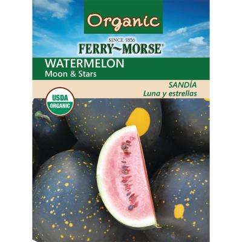Watermelon Moon and Stars Organic Seed