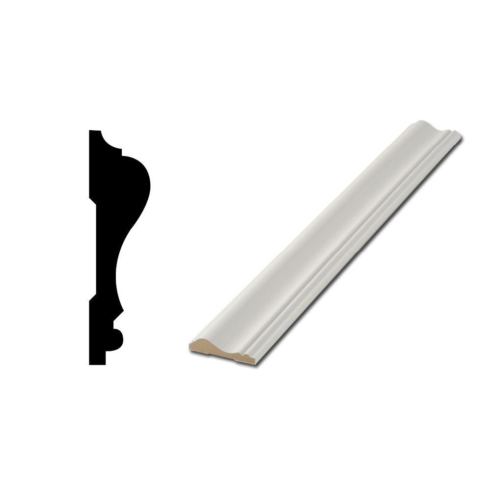 Finished Elegance WM390 11/16 In. X 2 5/8 In. X 96 In. Chair Rail Moulding 10001780    The Home Depot