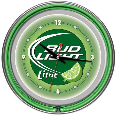14 in. Bud Light Lime Neon Wall Clock