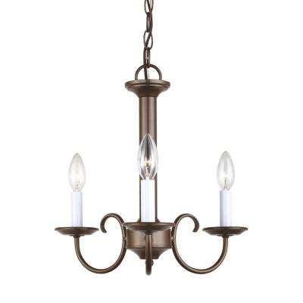 Holman 3-Light Bell Metal Bronze Chandelier