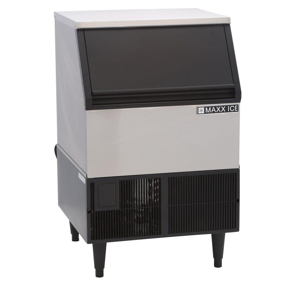 Maxx Ice 250 lb. Freestanding Icemaker in Stainless Steel