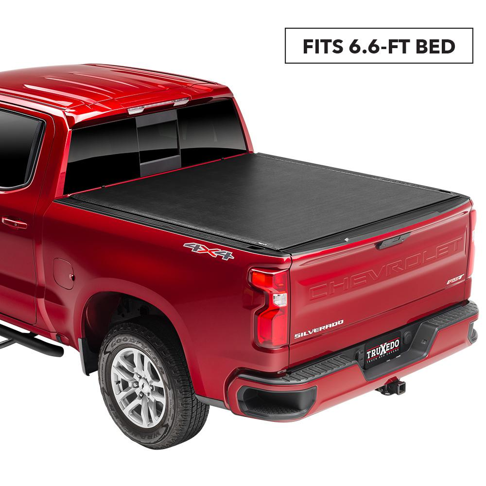 Truxedo Sentry Tonneau Cover 14 18 19 Leg Lim Chevy Silverado Gmc 1500 15 19 2500hd 3500hd 6 Ft 6 In Bed Without Sport Bar 1572001 The Home Depot