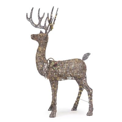 5.5 ft Meadow Frost Animated LED Brown Deer
