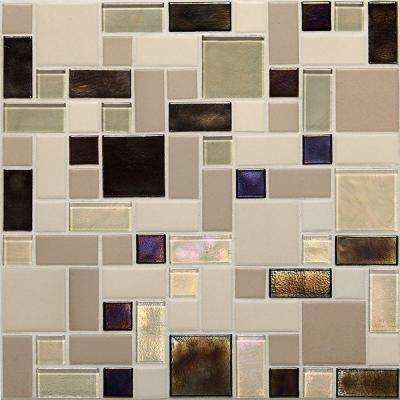 Coastal Keystones Sunset Cove Random Joint 12 in. x 12 in. x 6 mm Glass Mosaic Floor and Wall Tile (1 sq. ft. / piece)