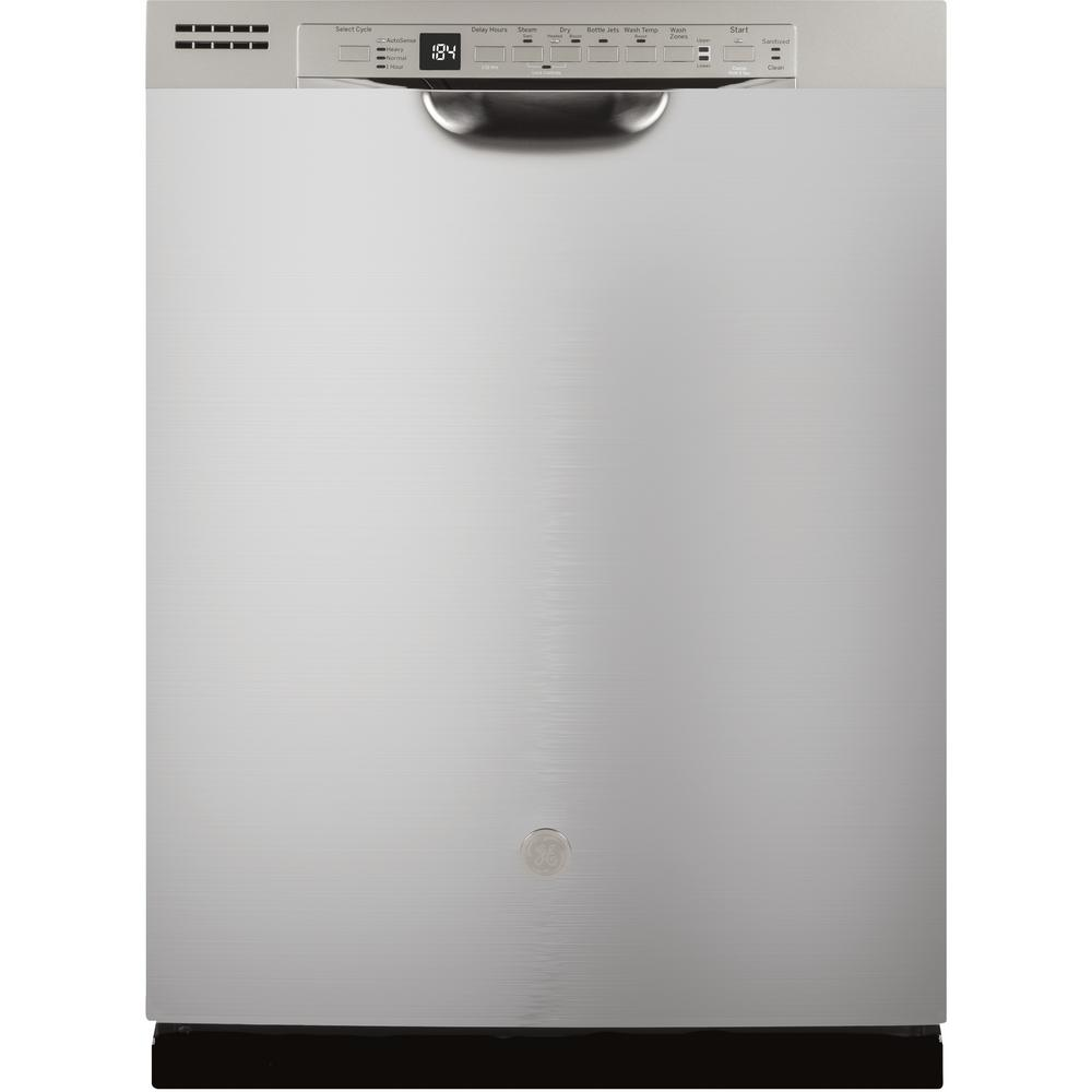Ge 24 In Front Control Tall Tub Dishwasher In Stainless