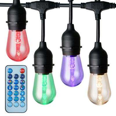 15-Light 48 ft. Integrated LED String Light with Color-Changing Bulbs and Remote Control
