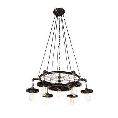 Prado 7-Light Blackened Copper Chandelier