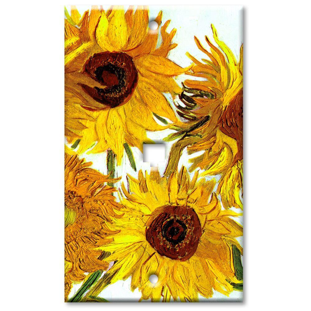 Art Plates Van Gogh Sunflowers Cat5 Wall Plate