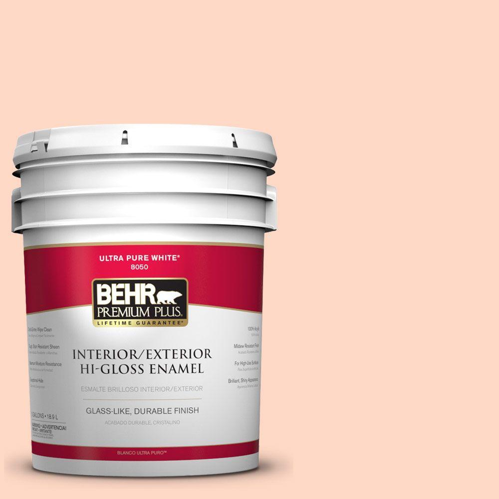 BEHR Premium Plus 5-gal. #220A-2 Friendship Hi-Gloss Enamel Interior/Exterior Paint