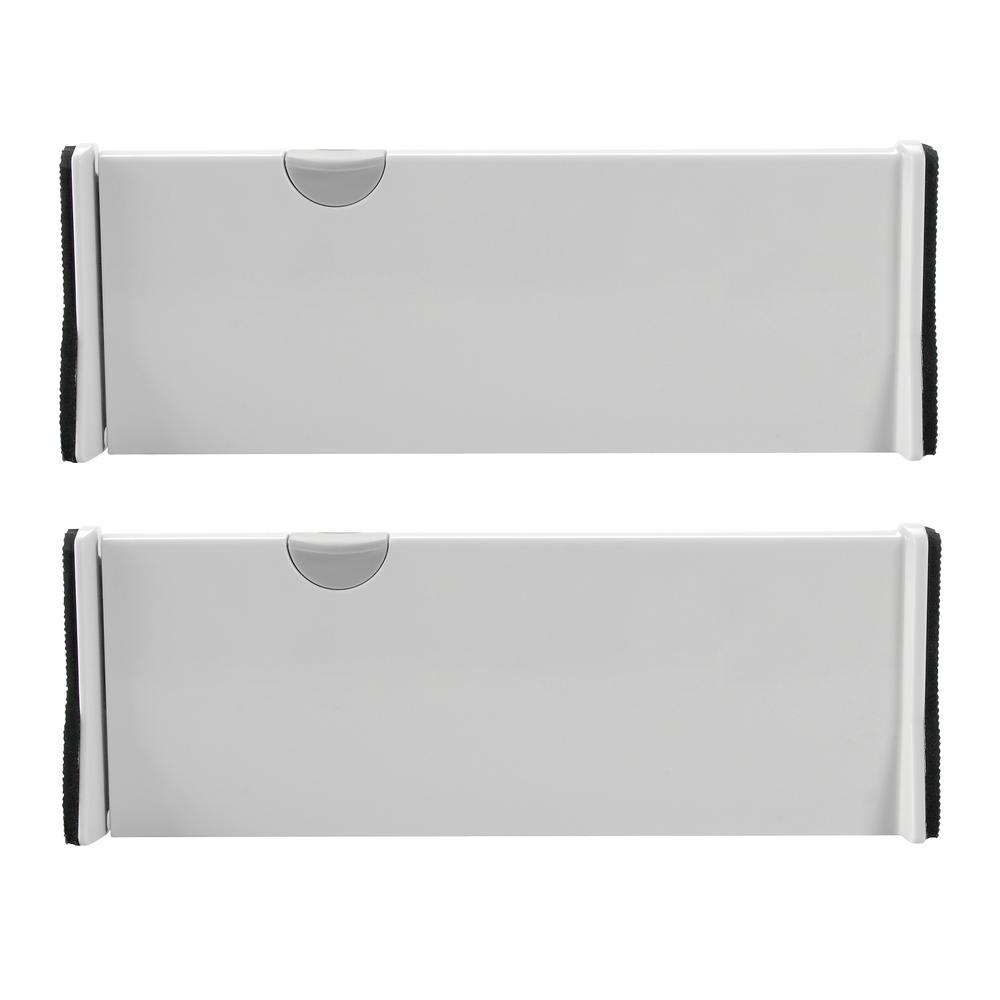 OXO Good Grips 4 in. W x 1.7 in. H Expandable Drawer Dividers (2-Pack)