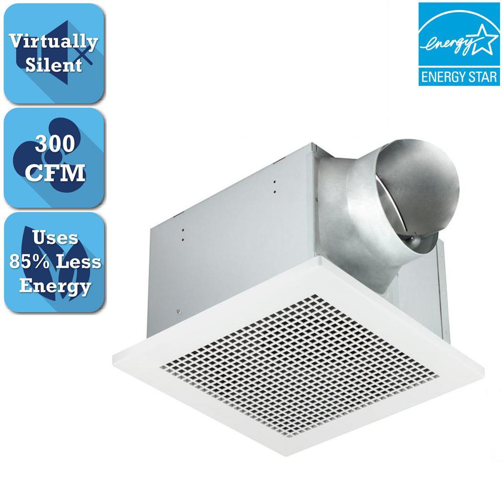 Delta Breez Professional Pro Series 300 Cfm Ceiling Bathroom Exhaust Fan Energy Star Pro300 The Home Depot