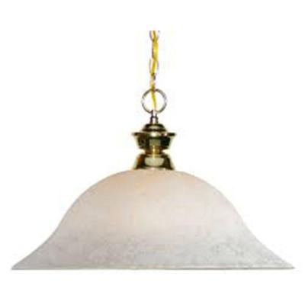 Lawrence 1-Light Polished Brass Incandescent Ceiling Pendant