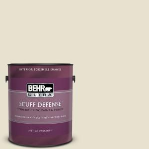 Behr Ultra 1 Gal Bxc 11 Ibis Extra Durable Eggshell Enamel Interior Paint And Primer In One 275001 The Home Depot