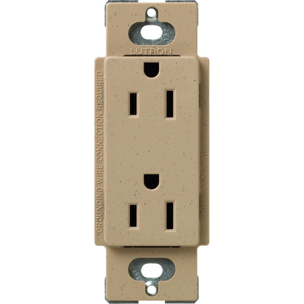 15 Amp Circuit Guard Gfci Receptacle Tamper Resistant White Hd Lutron Claro Duplex Outlet Mocha Stone Scr Ms The Home