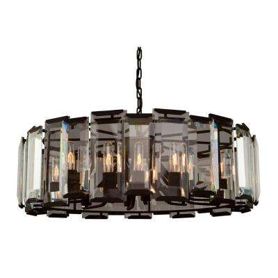 12-Light Matt Black Chandelier